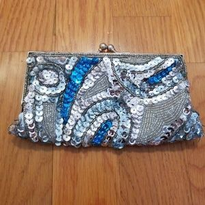 Sequin small clutch/  pouch NWOT